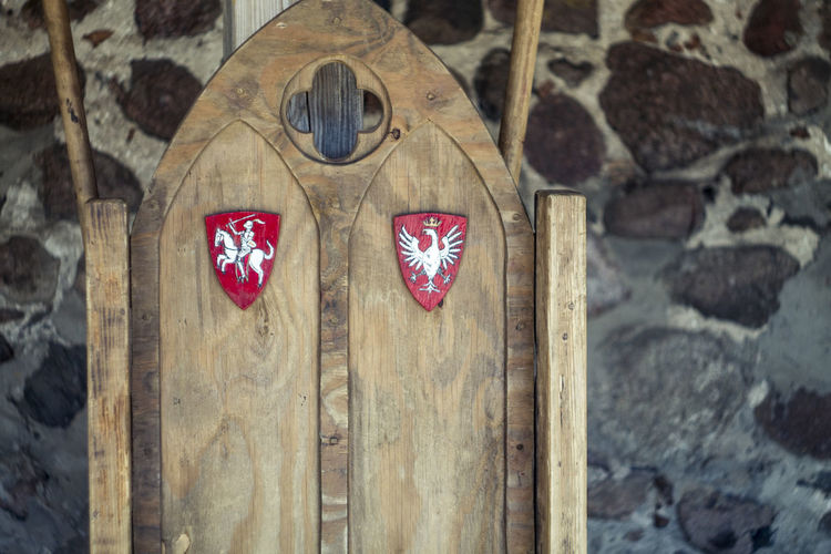 Belarus Castle Close-up Day Lida Litva No People Red Wood - Material Wooden