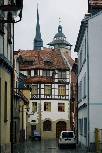 historical buidings Fachwerk Fachwerkhaus Fassade Germany Haus Historical Building Mittelalter Schmalkalden Thueringen Timber Framework