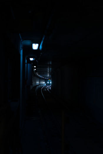 Electric Light Glowing Indoors  Light Lighting Equipment Mystery Night Skytrain Speed Subway Train