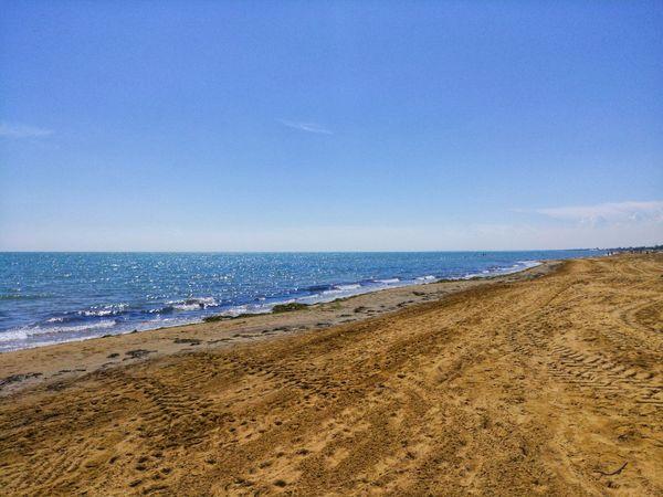 Water Wave Sea Beach Sand Clear Sky Blue Sand Dune Sky Horizon Over Water