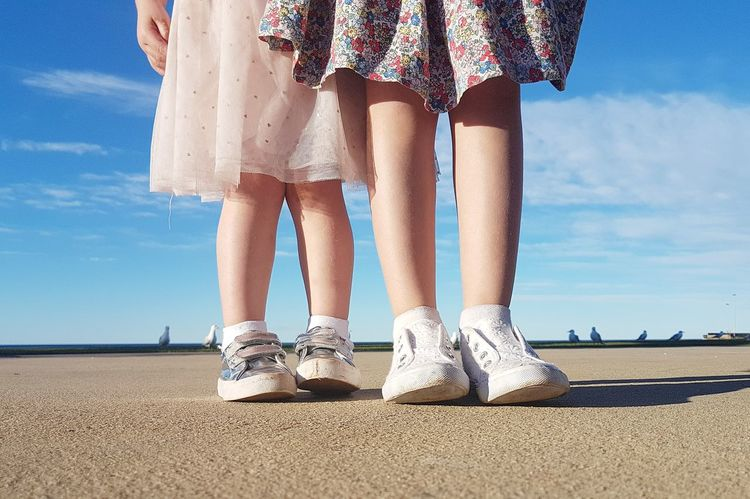 Little sister and big sister Summer Togetherness Girls Girl Legs Feet Shoes Australia & Travel Australia Australian Childhood EyeEmNewHere The Portraitist - 2017 EyeEm Awards Sisters