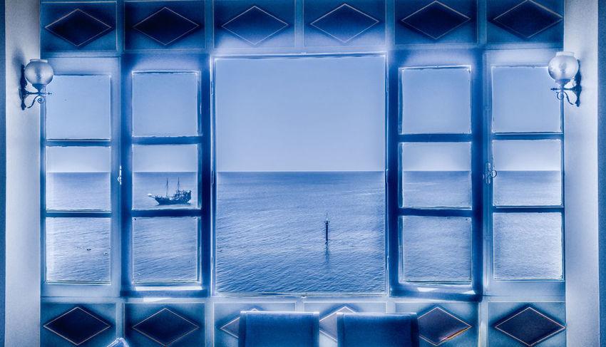 Indoors  Window Sea Blue No People Water Day Mahdia/Tunisia