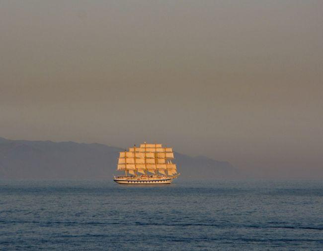 Royal Clipper Sea Vessel Clipper Ship Ship Liguria Landscape First Eyeem Photo
