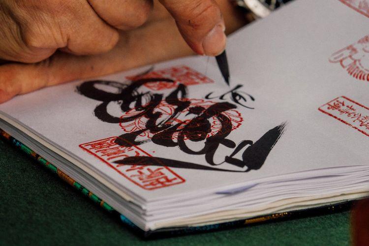 Nara Nara,Japan Goshuin Goshuinchou Red-stamp Notebook Notebook Monk  Calligraphy Japanese Writing Japanese Writer