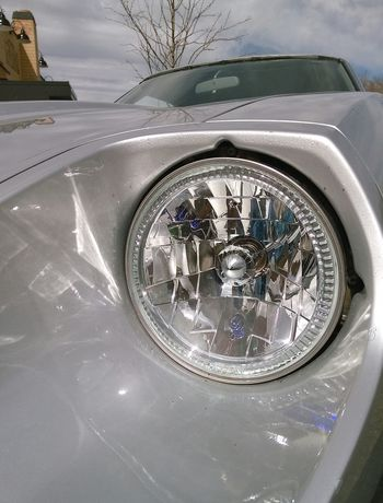 Looking Into The Future Chrome 280ZX No Edit/no Filter Check This Out Vintage Cars Reflections Reflection Light And Shadow Old Meets New