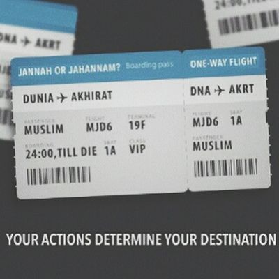 you choice your own Tickets Akhirat Jannah Moslem