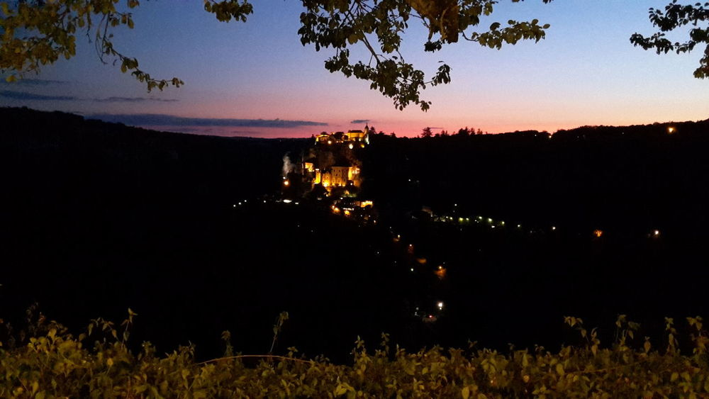Sunset Silhouette Tree Landscape Night No People Outdoors Tranquility Nature Sky Illuminated Beauty In Nature rocamadour First Eyeem Photo Couché De Soleil