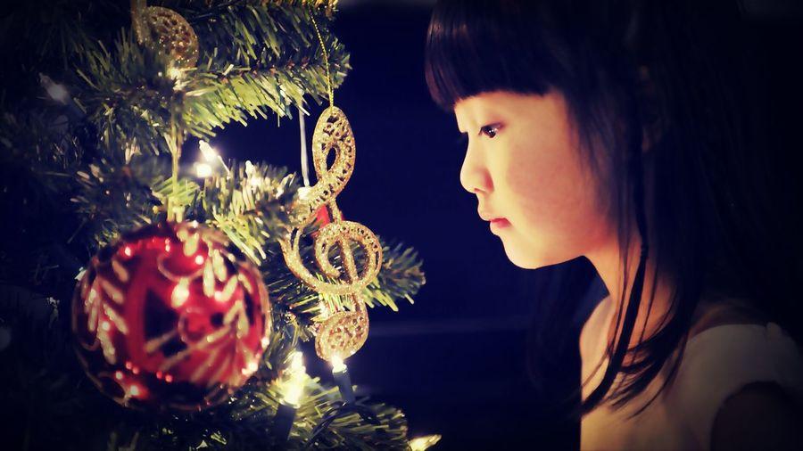 Festive Season Music Note Christmas Tree Cute
