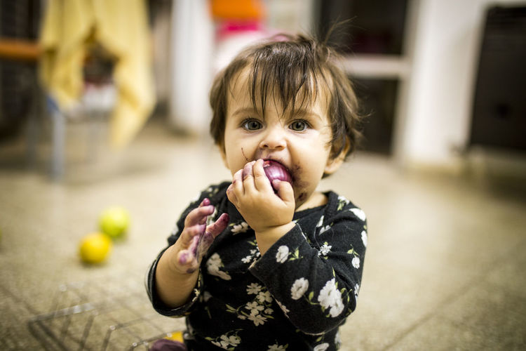 Child Childhood Portrait Food And Drink Food Looking At Camera Eating Hungry Sweet