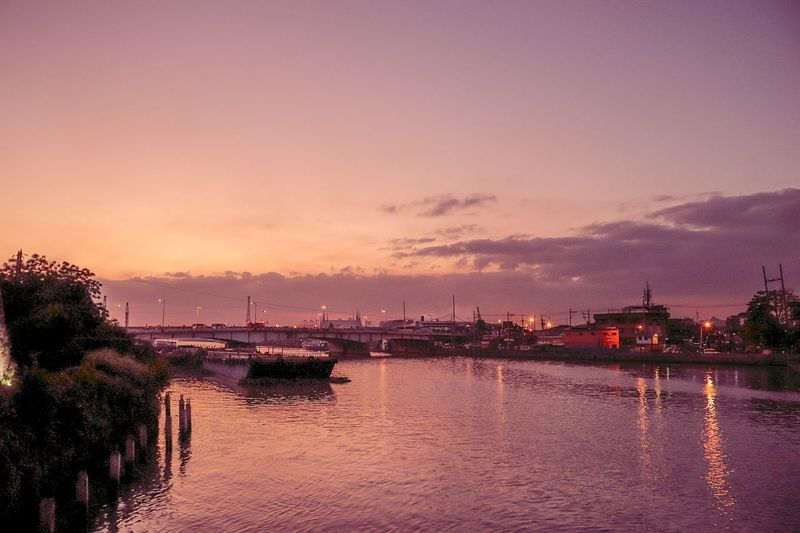 Sun is going down Time Beauty Manila Philippines Intramuros Calm Pretty Pink Sunset Light Beautiful Nature Cityscape City Life Ph Simple Tothesun River EyeEm Selects Water City Sea Sunset Multi Colored Nautical Vessel Beach Silhouette Urban Skyline Sky