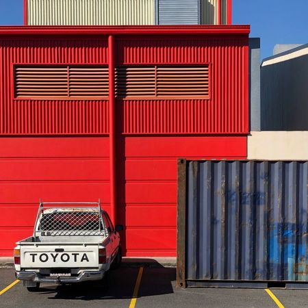 Urban Landscape Streetphoto_color Streetphotography Red Architecture Transportation Text Communication Western Script No People Cargo Container The Architect - 2018 EyeEm Awards The Street Photographer - 2018 EyeEm Awards