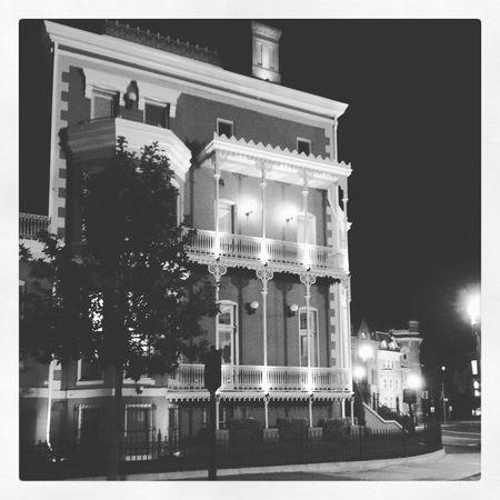 Logan Circle at night #architecturelovers #architecture #construction #palaisroyal #balcon #mi #recamara <3 #freezing #rain On The #railing #logancircle #neighborhood #residential #trafficcir Depth Of Field Selective Focus