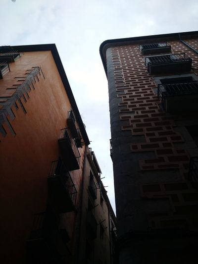 These buildings are beautiful in Girona, Spain. Building Exterior Architecture Built Structure Low Angle View City Outdoors No People Sky Day Shadow EyeEm Selects SPAIN EyeEmNewHere The Week On EyeEm