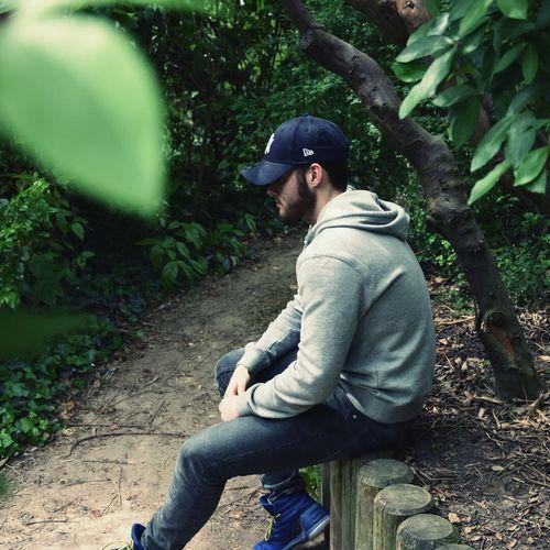 Man sitting outdoors