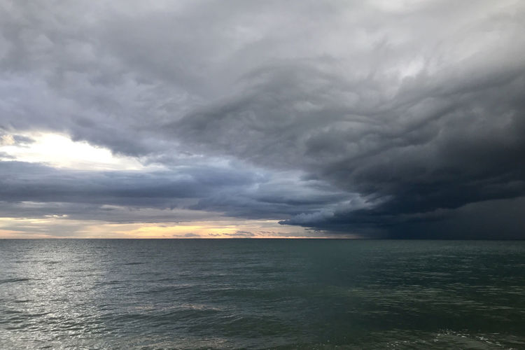 A bit stormy Cloud - Sky Sea Sky Water Storm Storm Cloud Beauty In Nature Horizon Horizon Over Water Scenics - Nature Overcast Power In Nature No People Dramatic Sky Power Nature Thunderstorm Ominous Outdoors