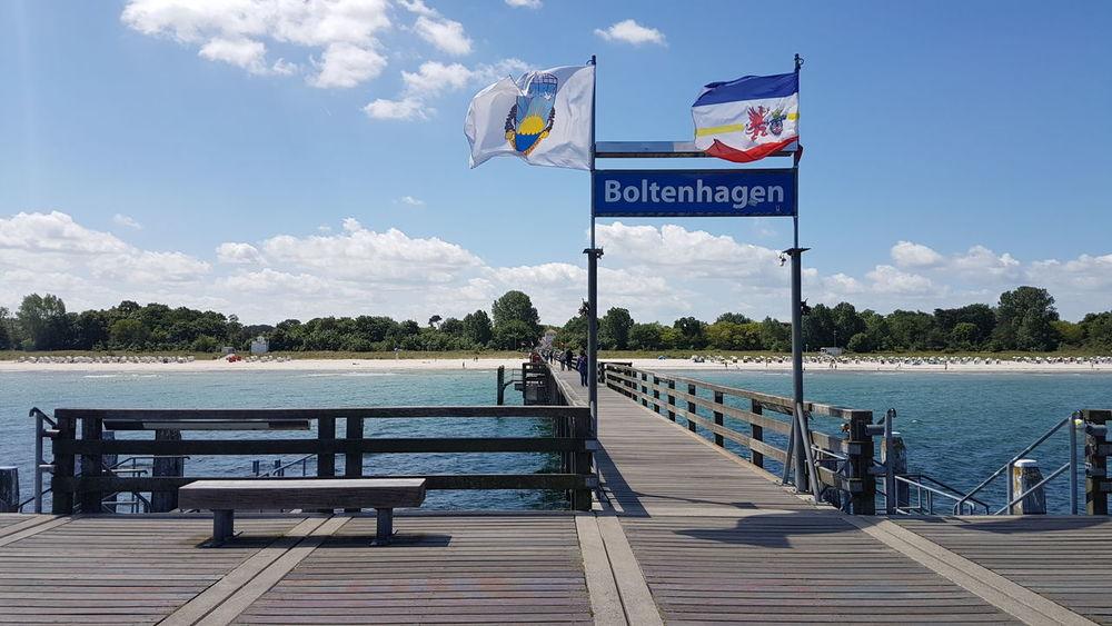 Meer Ostsee Boltenhagen Seebrücke Sea And Sky Sky Wind Ufer