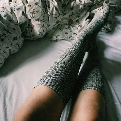 TK Maxx Socksie One Person One Woman Only Lifestyles Midsection Only Women Indoors  Women Low Section Real People Leisure Activity Bedroom Human Leg People Day Human Body Part Close-up Socks Knee High Socks