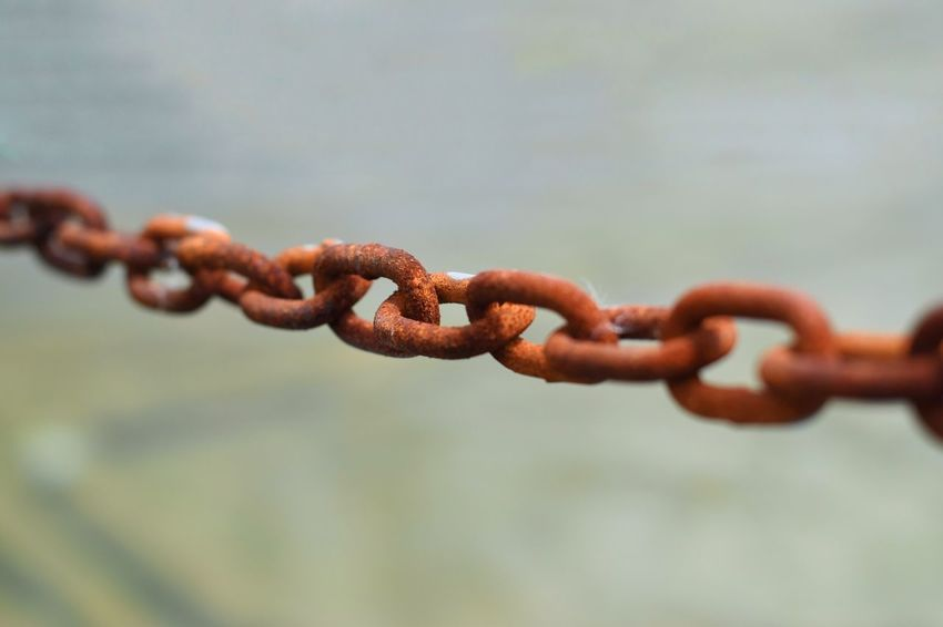 Metal Chain Strength Connection Rusty Focus On Foreground No People Close-up Outdoors Day Strain Old Vintage EyeEm Selects