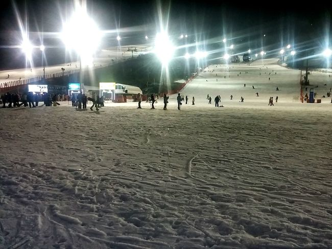 Relaxing Skiing At The Park