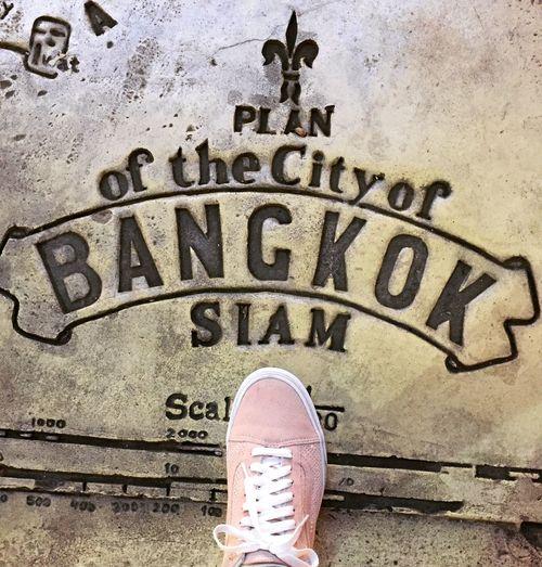 Shoe Sneakers Outdoors Text Bangkok Bangkok Thailand. Thailand Asiatique The Riverfront