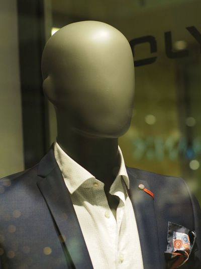 One Person Headshot Clothing Portrait Men Suit Focus On Foreground Business Uniform Mannequin Indoors  Occupation Standing Adult Close-up Well-dressed Safety Real People Responsibility Menswear Human Face
