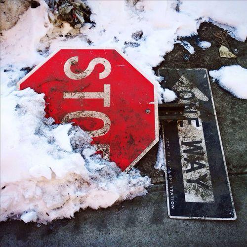 Signs Stop Snow In My Hood