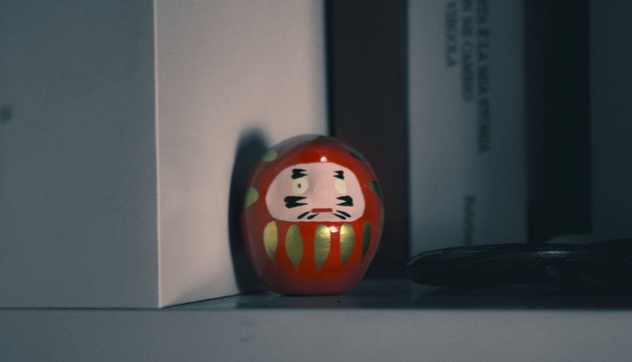 Anthropomorphic Face Blackandwhiteandcolor Blackandwhiteandred Close-up Daruma Daruma Doll Darumastyle Day Indoors  Japan Japan Photography Japanese  Japanese Culture Japanese Style Japanese Traditional Luck Lucky No People EyeEm Selects
