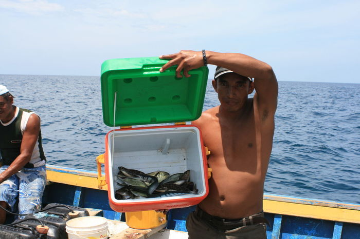 Carribean Fish Fisherman Person Sea Venezuela Fishing Work Hunting