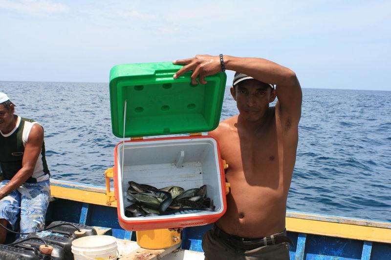 Carribean Fish Fisherman Person Sea Venezuela Fishing Work Hunting