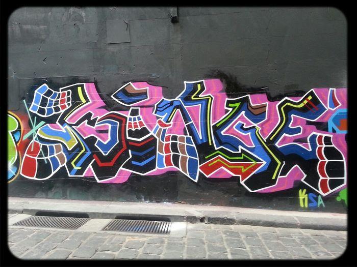 All Your Walls in Hosier Lane Graffuturism piece by Binge
