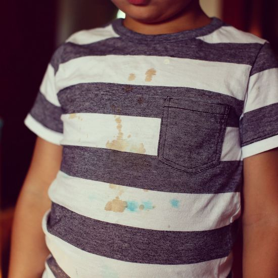 Boys Boys Dirty Dirt Stain Stained Stains Shirt Little Boy Belly Standing Midsection Casual Clothing T-shirt