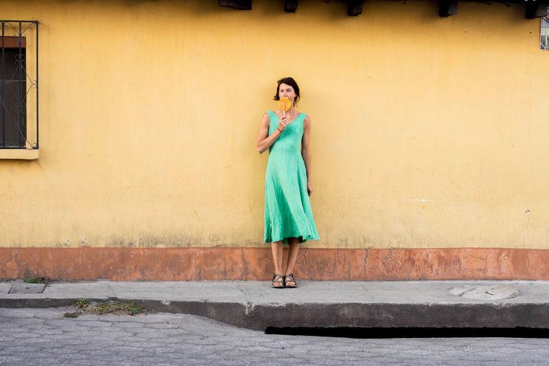Enjoying Xela Beautiful Colorful Getoutstayout Girl Guatemala PerhapsYouNeedALittleGuatemala Placeswow Pose Visitguatemala Paint The Town Yellow