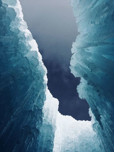 Ice castles, view looking up.