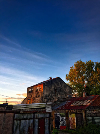 Abandoned Buildings Architecture Built Structure Day First Rays Of The Morning Sun Nature No People Old Cider Work Outdoors Rust Sky Wood - Material