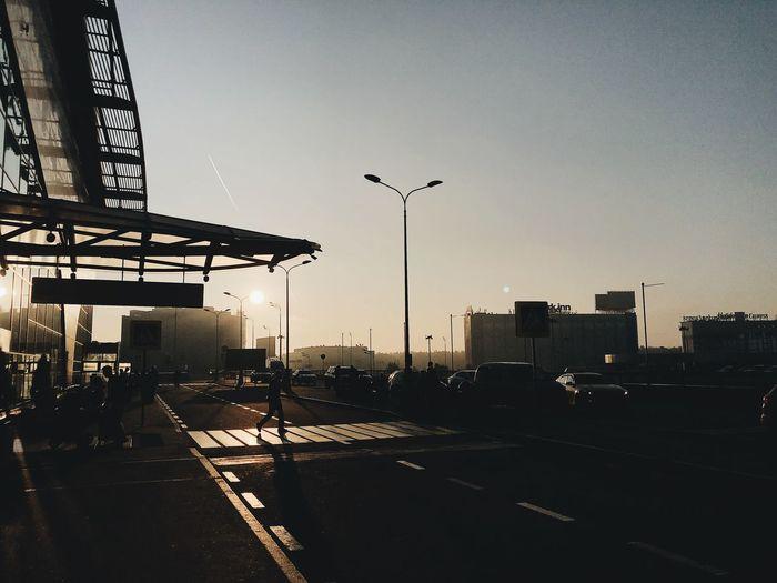 Moskow airport.