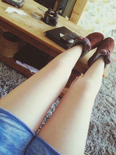 Lazy Sunday ?? Fat Legs Fox Slippers Shorts Fatty