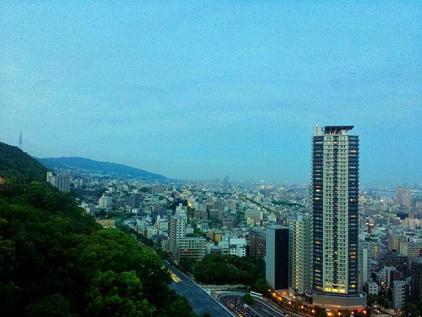 Kobe Twilight    Kobe Ropeway Nunobiki Herb Gardens Twilight Sky Cityscapes Travels Traveling Explore Nippon