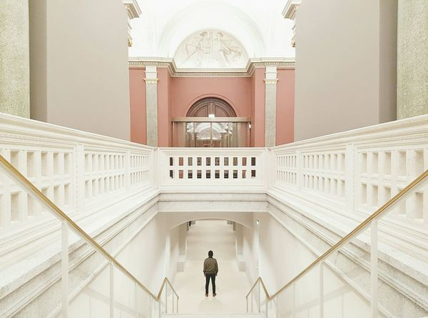 For the love of symmetry and pastel colors The Architect - 2016 EyeEm Awards Pastel Colors Symmetrical Architecture Architectural Detail Stairs Minimalism Minimal People Silhouette Of A Man Arch White Background Hall 43 Golden Moments Architecture Photography Modern Architecture Stone Wall Facades Geometric Shapes Glass Textures And Surfaces Door Ceiling EyeEm Best Edits Vanishing Point Light Colors Stories From The City