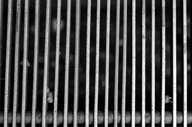 Black and white dirty grill with a bar hiding more out of focus dirt behind it. Concept and abstract image that can be used to stop corruption, theft, fraud (any other bad thing) and acting like a prison, jail for them protecting the society of this dirty world. Abstract Background Bar Behind Black And White Cage Caged Freedom CONCEAL Corruption Dirt Drain Enough Escape Exit Fraud Grate Grating Grill Hide Jail No Pattern Rescue Stop Tied