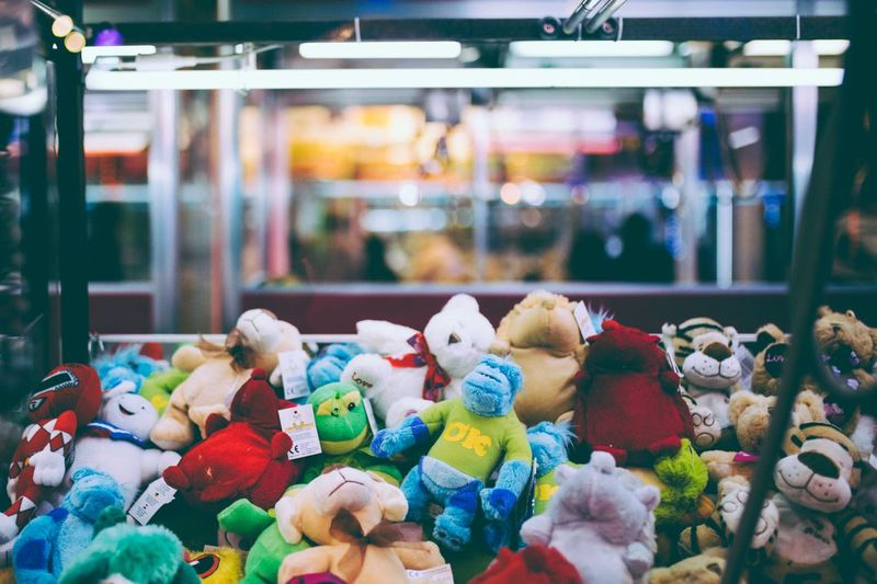 Funfair Funfair Neon Multi Colored Toy Choice For Sale Retail  Variation HUAWEI Photo Award: After Dark Abundance Large Group Of Objects Stuffed Toy Teddy Bear