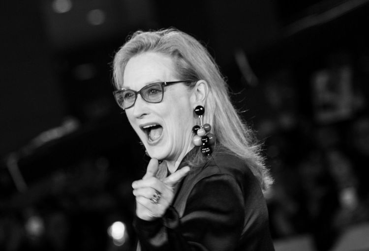 Smile Meryl Streep Headshot Portrait One Person Lifestyles Glasses Real People Focus On Foreground