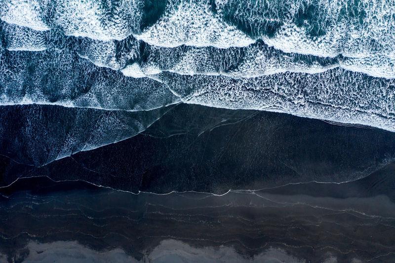 Full frame shot of glacier on mountain