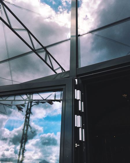 Glass walls make great mirrors. Glass Window Glass Wall Reflection Clouds Clouds And Sky Reflections Walking Around IPhoneography Streetphotography Koningsdag 2016 Pllek Amsterdam