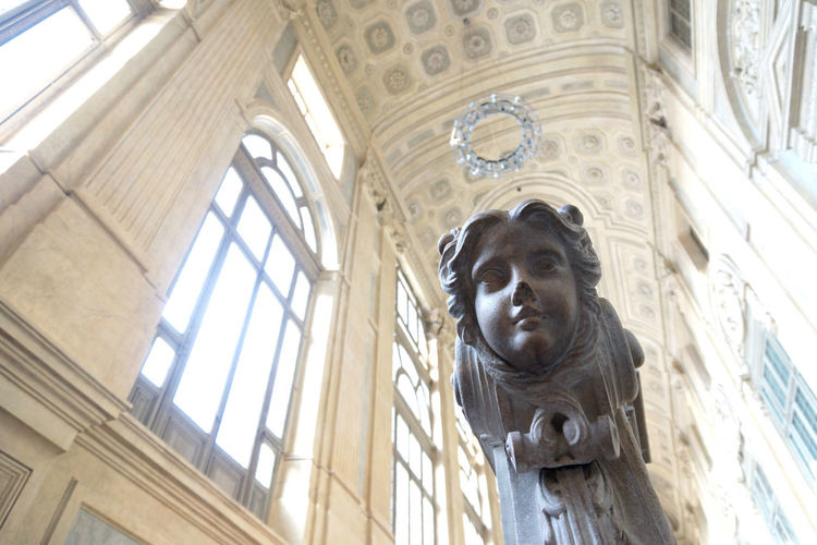 Low angle view of statue in museum