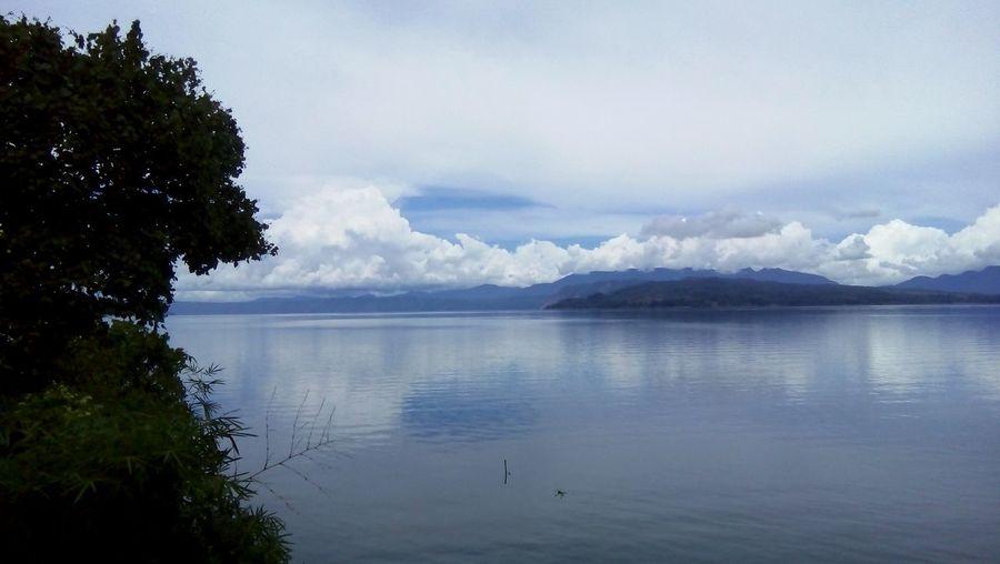 INDONESIA Toba Sky Clouds Lake