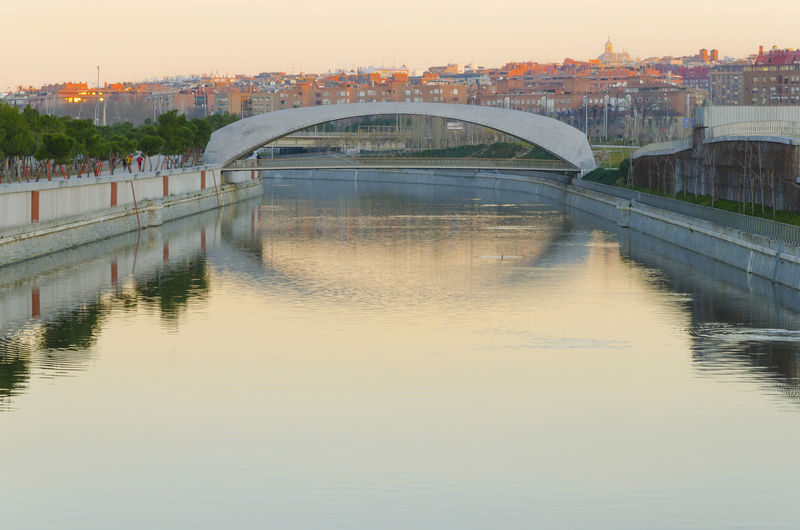 Madrid Riverside SPAIN Arch Arch Bridge Architecture Bridge Bridge - Man Made Structure Building Building Exterior Built Structure City Connection Manzanares Nature No People Outdoors Reflection River Sky Sunset Transportation Water Waterfront