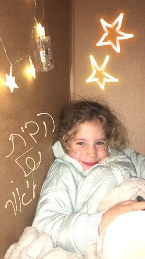 קסוּמה😍 Girls Child Childhood Indoors  One Person Illuminated Christmas