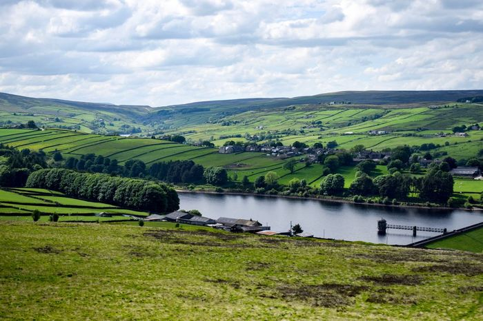 Yorkshire Haworth Bronte Sisters Green Color Scenics Beauty In Nature Lake Landscape Nature No People Tranquility