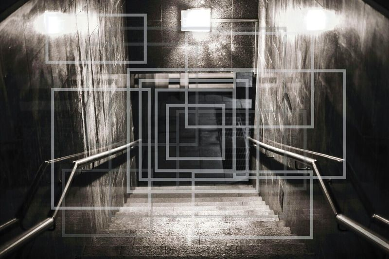 Empty staircase in building