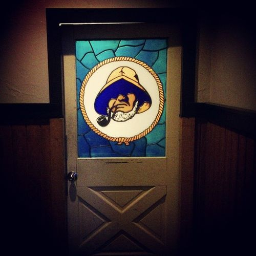 Captain Billy's Whizz Bang Stainedglass Door